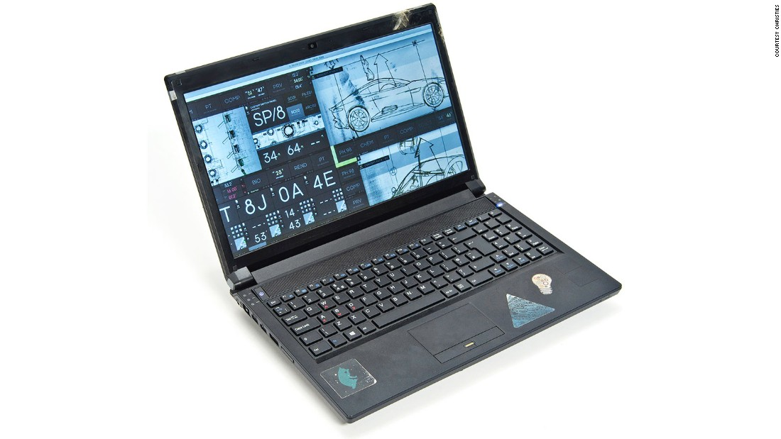 A laptop used in the film is expected to fetch up to $8,700.