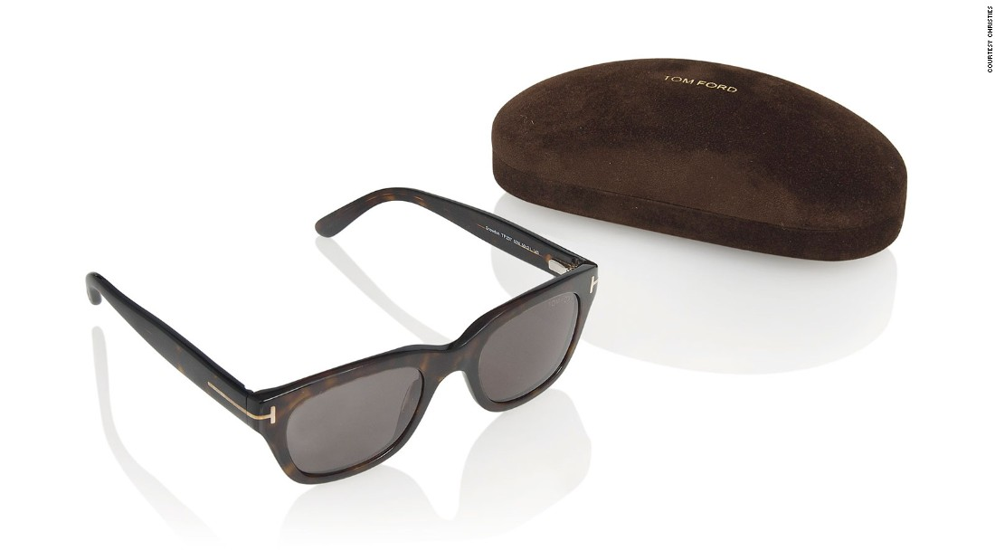 The 'Snowdon' sunglasses by Tom Ford are expected to fetch  $8,700.