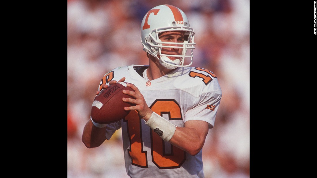 Before entering the NFL, Manning played four years at the University of Tennessee and was a consensus All-American in 1997. He still holds many of the school's passing records.