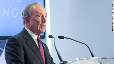 "Former New York City Mayor Michael Bloomberg attends the ""Genesis Generation Challenge"" at Bloomberg Philanthropies on April 28, 2015 in New York City."