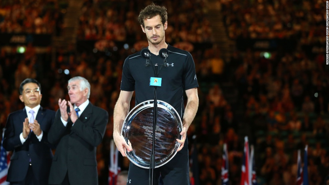 """You've been a legend the last two weeks,"" Murray said of his wife in a tearful Australian Open runner-up speech. ""Thank you so much for all of your support and I'll be on the next flight home."""
