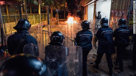 Hong Kong's New Year's violence