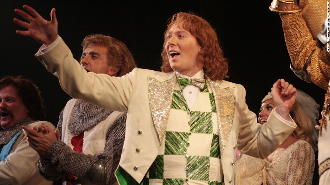 "Monty Python on Broadway? Eric Idle got the blessing of his cohorts to turn ""Monty Python and the Holy Grail"" into a musical, and the result won three Tonys, including best musical, in 2005. It ran for more than 1,500 performances and has toured all over the world. At one point, Clay Aiken, pictured, joined the cast as Sir Robin."