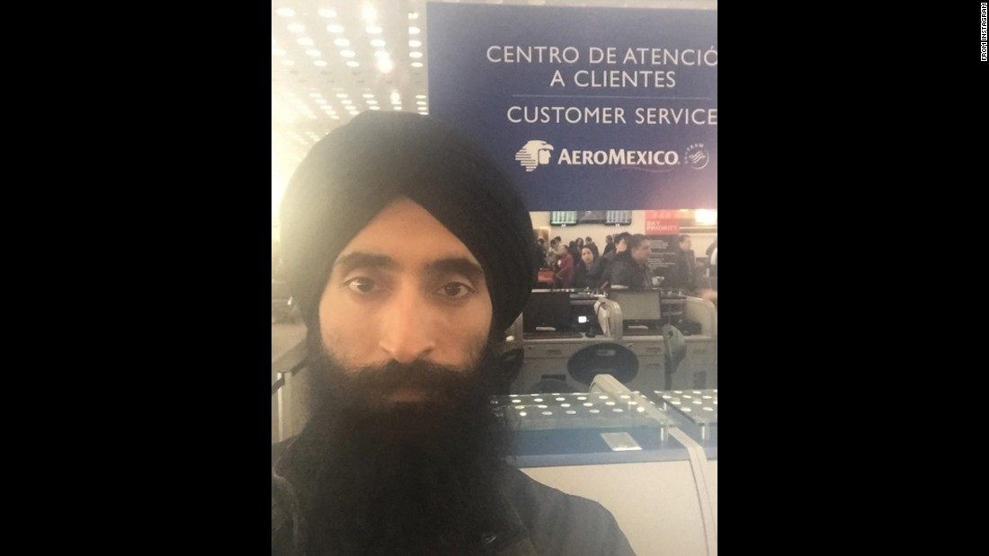 "Waris Ahluwalia, an Indian-American actor and jewelry designer, took this selfie after he got stuck in Mexico City's airport on Monday, February 8. Ahluwalia said Aeromexico staff and security screeners told him to buy a ticket on a different airline after he refused to remove the turban he wears as part of his faith. ""Dear NYC fashion week, I may be a little late as @aeromexico won't let me fly with a turban,"" <a href=""https://www.instagram.com/p/BBiLpK2gTDv/"" target=""_blank"">he said on Instagram.</a> ""Don't start the show without me."" Aeromexico <a href=""http://www.cnn.com/2016/02/08/travel/aeromexico-sikh-turban-waris-ahluwalia/index.html"" target=""_blank"">offered an apology,</a> saying it ""recognizes and is proud of the diversity of its passengers."""