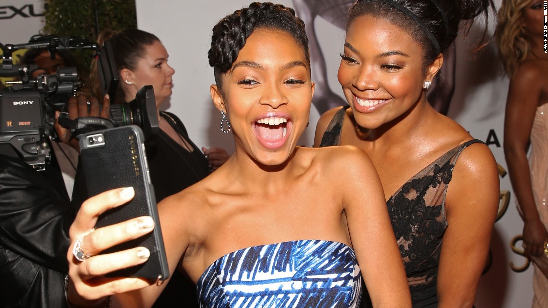 Actresses Yara Shahidi, left, and Gabrielle Union attend the NAACP Image Awards on Friday, February 5.