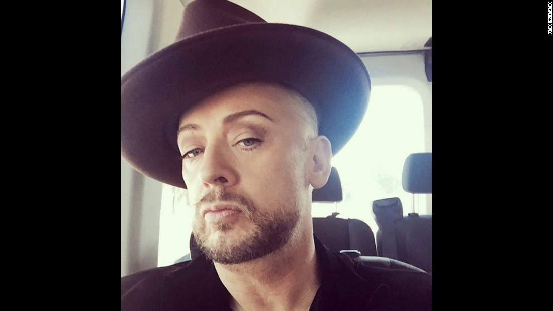 """A man in a van in LA! It's a brown affair today!"" <a href=""https://www.instagram.com/p/BBjbsithCkj/"" target=""_blank"">singer Boy George said on Instagram</a> on Tuesday, February 9. He is a contestant on the upcoming season of ""The Celebrity Apprentice."""