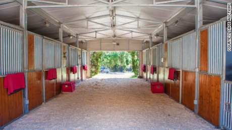 Seamair Farm features covered stalls -- but does not come with horses.