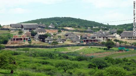 A picture of President Jacob Zuma's private residence in Nkandla, taken on November 4, 2012.