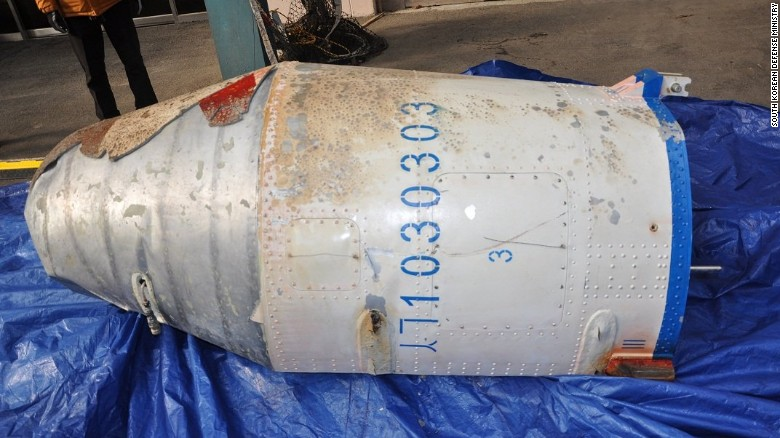South Korean Defense Ministry retrieved an object believed to be a part of North Korean rocket, which was launched on February 7, 2016.