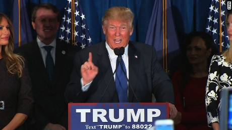 First on CNN: Trump describes New Hampshire victory