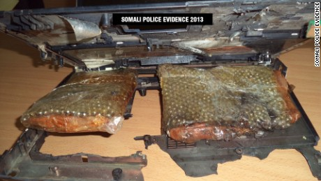 A laptop explosive device was used in a 2013 attack on a Mogadishu hotel.