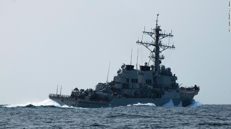 The guided-missile destroyer USS Porter sails in the Black Sea in October 2015.