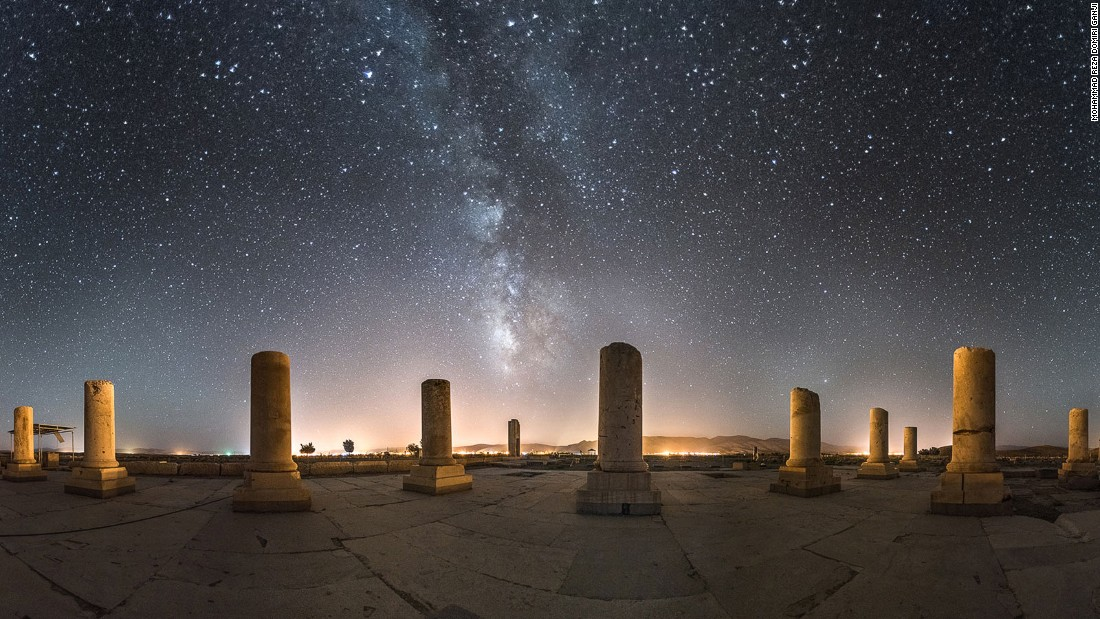 """This is a very important monument, as it is relates to one of the most famous Persian emperors,"" says Ganji. ""The Milky Way is only visible on certain summer evenings where the sky is clear and there's no moon."""
