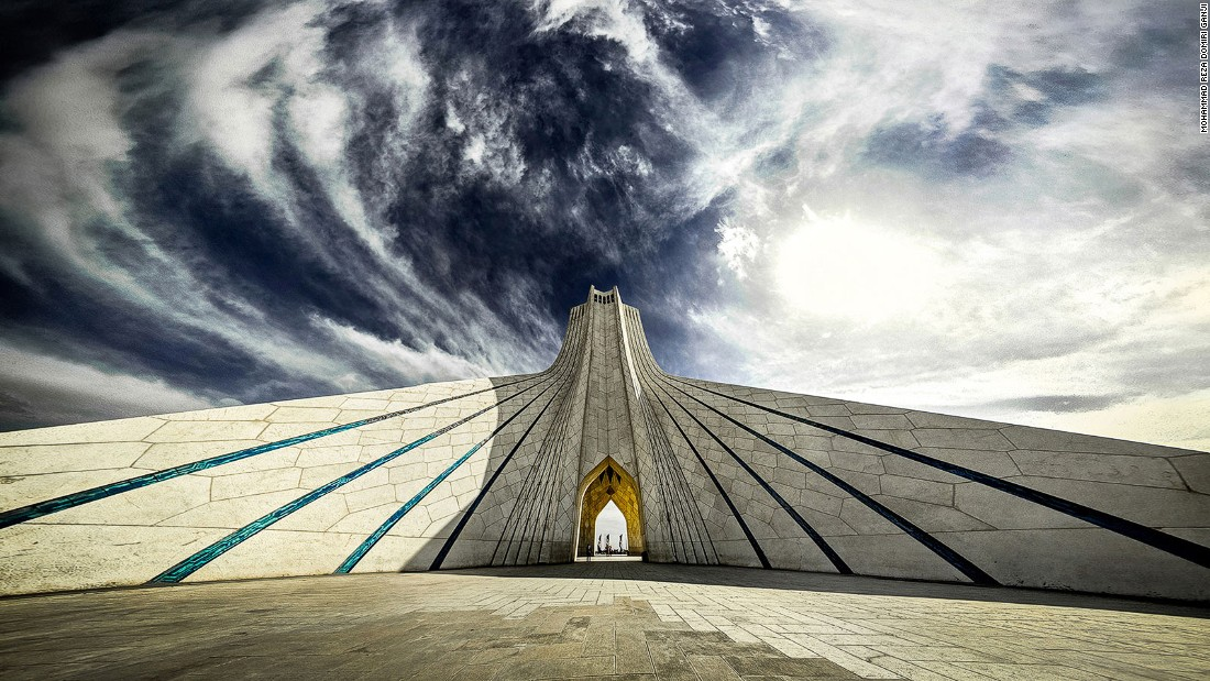 "Built in 1971, the Azadi tower marks the 2,500th anniversary of the Persian Empire. ""I like this tower for its unique architecture,"" says Ganji."