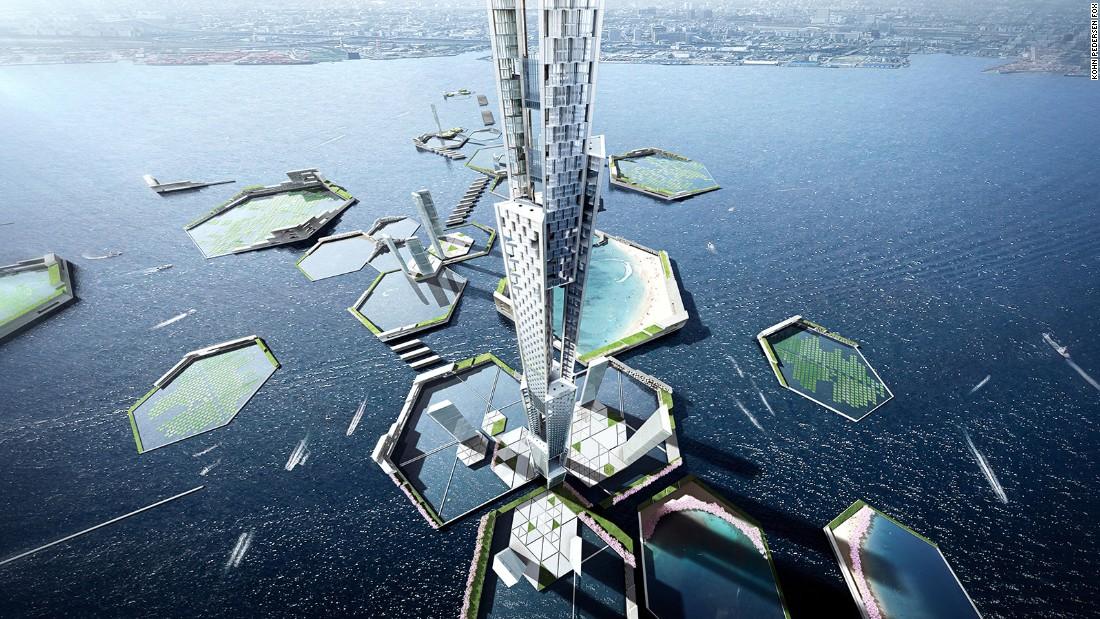 The proposal is by firms Kohn Pedersen Fox  Associates and Leslie E Robertson Associates.