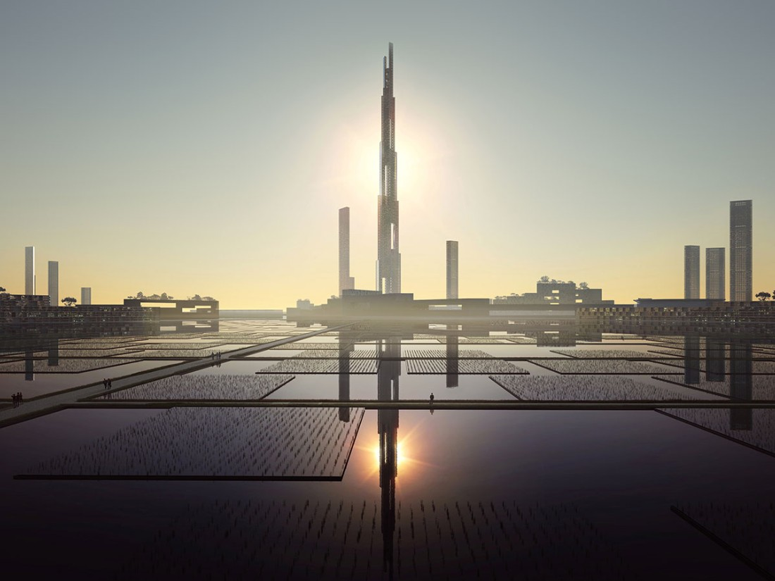Taking the race to even further extremes, a proposal for a tower double the height of the Burj Khalifa was unveiled In Feburary by Kohn Pefersen Fox Associates (KPF) and Leslie E Robertson Associates (LERA).