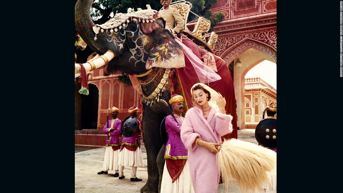 Anne Gunning in Jaipur by Norman Parkinson, 1956. Vogue 100: A Century of Style is at the National Portrait Gallery, London, from 11 February-22 May 2016, sponsored by Leon Max.