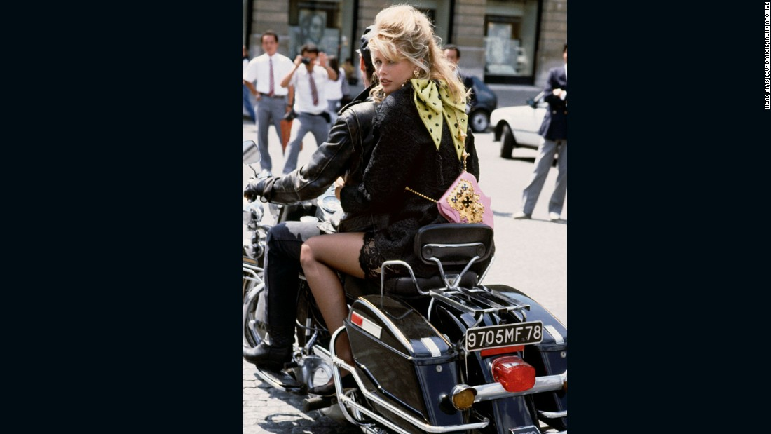Claudia Schiffer in Paris by Herb Ritts, 1989. Vogue 100: A Century of Style is at the National Portrait Gallery, London, from 11 February-22 May 2016, sponsored by Leon Max.