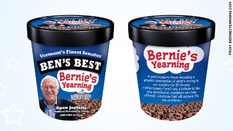 Ben & Jerry's co-founder Ben Cohen decided to whip up a small batch of ice cream in honor of his favorite presidential candidate, Bernie Sanders.