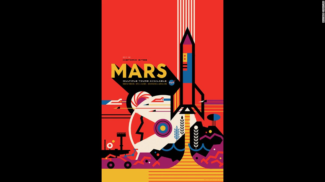 Nasa lures space travelers with free posters for Space poster design