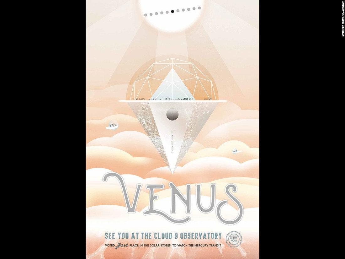 "This poster imagines the ""best"" vantage point on Venus, to spot the <a href=""http://eclipse.gsfc.nasa.gov/transit/catalog/MercuryCatalog.html"" target=""_blank"">Mercury Transit</a> -- or when Mercury comes between the Sun and Earth."