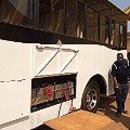 Africa solar bus Uganda  batteries