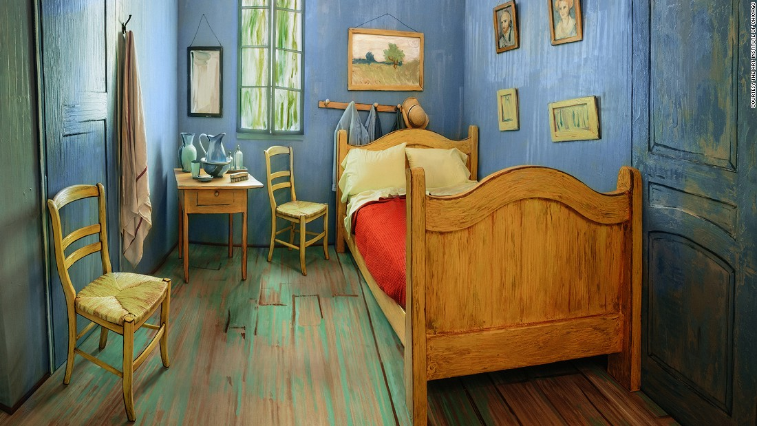 Ever wanted to climb into a painting? The Art Institute of Chicago has recreated the bedroom featured in Vincent Van Gogh's famous paintings, and it's for rent on Airbnb.