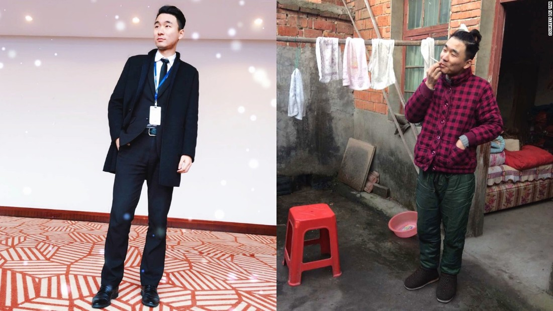 When Stone Liu is home for Lunar New Year he likes to wear his grandmother's coat and his grandfather's pants.<br />