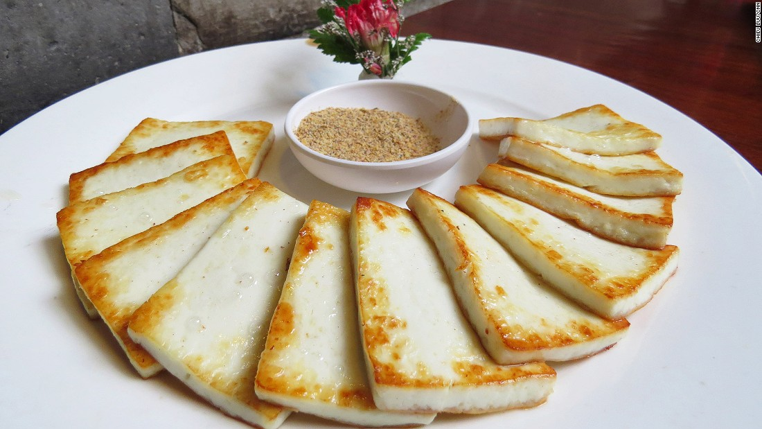 Yunnan's fried cheese is made from fresh goat's milk and has a uniquely firm texture.