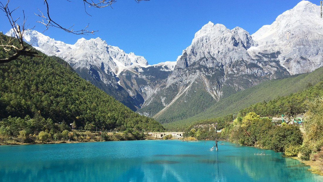 Blue Moon Valley is on Yunnan's Jade Dragon Snow Mountain. By all appearances, it contains some of the bluest water ever.