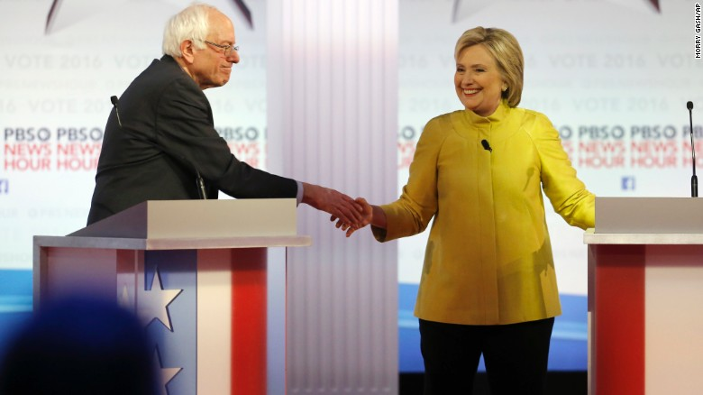 Clinton's 'vigorous agreement' with Bernie Sanders