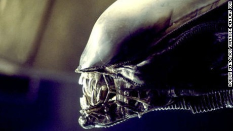 Alien, complete with protrusible jaw and acid saliva.