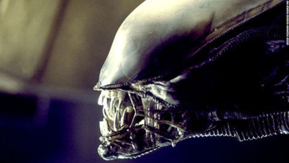 The gruesome alien played by Badejo as it appeared on screen.