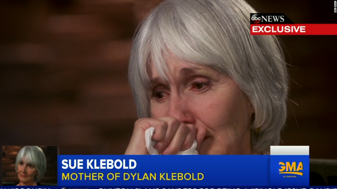 essay mother shooter dylan klebold A mother's reckoning: living in the aftermath of tragedy [sue klebold, andrew  solomon]  sue klebold is the mother of dylan klebold, one of the two shooters  at  never, since reading that essay, have i ever blamed parents for their child's.