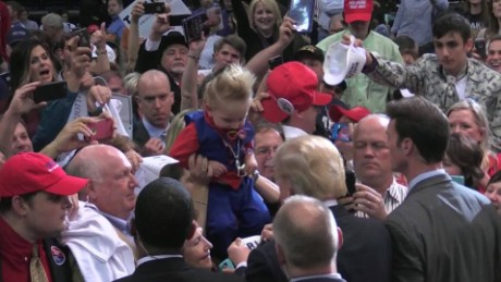 Donald Trump signed a toddler