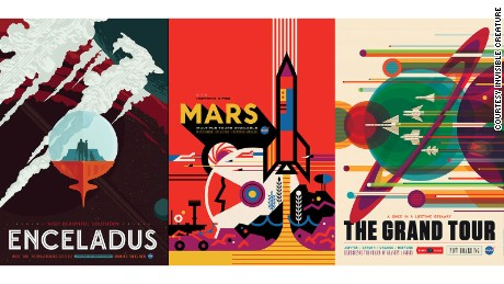 Three of the posters were created by design studio Invisible Creature.