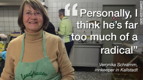 Kallstadt innkeeper Veronika Schramm doesn't think Donald Trump would fit in in Kallstadt