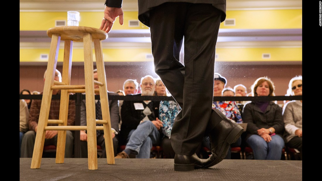 U.S. Sen. Marco Rubio, a Republican presidential candidate, listens to a question during a town hall meeting in Myrtle Beach, South Carolina, on Thursday, February 11.