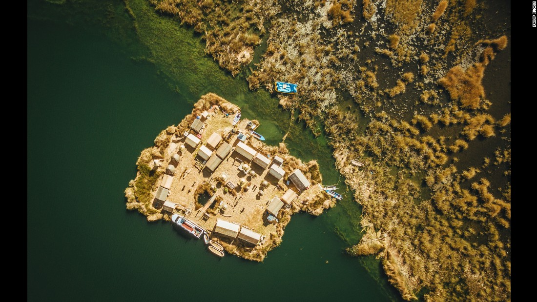 The bizarre floating Uros Islands of Lake Titicaca in Peru and Bolivia started appearing long before the Inca began carving stone cities. People known as the Uros fled their enemies, creating islands from reeds and grass and floating to safety in hidden corners of the lake.