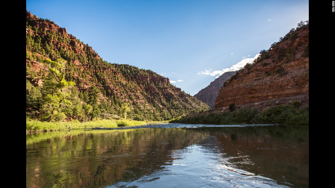 Green banks line the Upper Colorado River near the beginning of its 1,450-mile trek toward the Pacific.