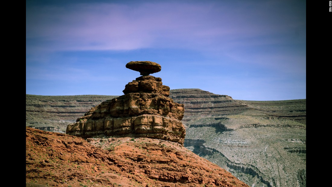 Mexican Hat, Utah, is among the great natural monuments located on the banks of the San Juan River, a tributary of the Colorado River.