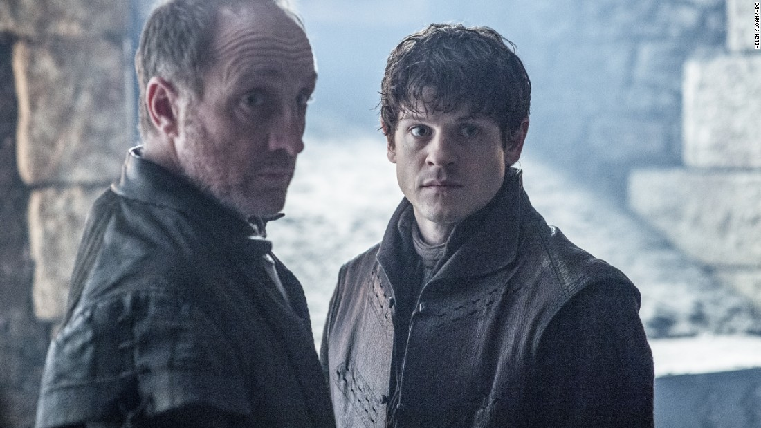 The sadistic Boltons -- father Roose (Michael McElhatton, left) and legitimized son Ramsay (Iwan Rheon) -- look set to return to flay some more victims in season 6. But judging by new trailers, their army appears under attack from several fronts.
