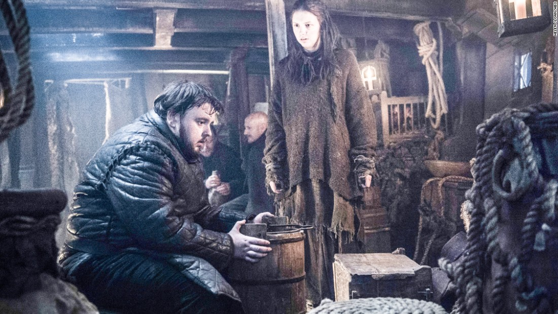 Samwell Tarly (John Bradley-West) and Gilly (Hannah Murray) leave the Wall in season 6 so that he can train to become a maester. But as we've seen, there are few safe havens for anyone in Westeros.