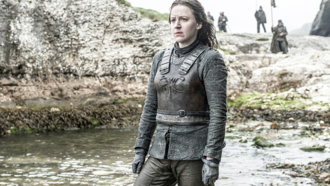 Balon's daughter, Yara (Gemma Whelan), is one of the series' many strong female characters. She may be ready to seek vengeance on those who wronged her brother, Theon.