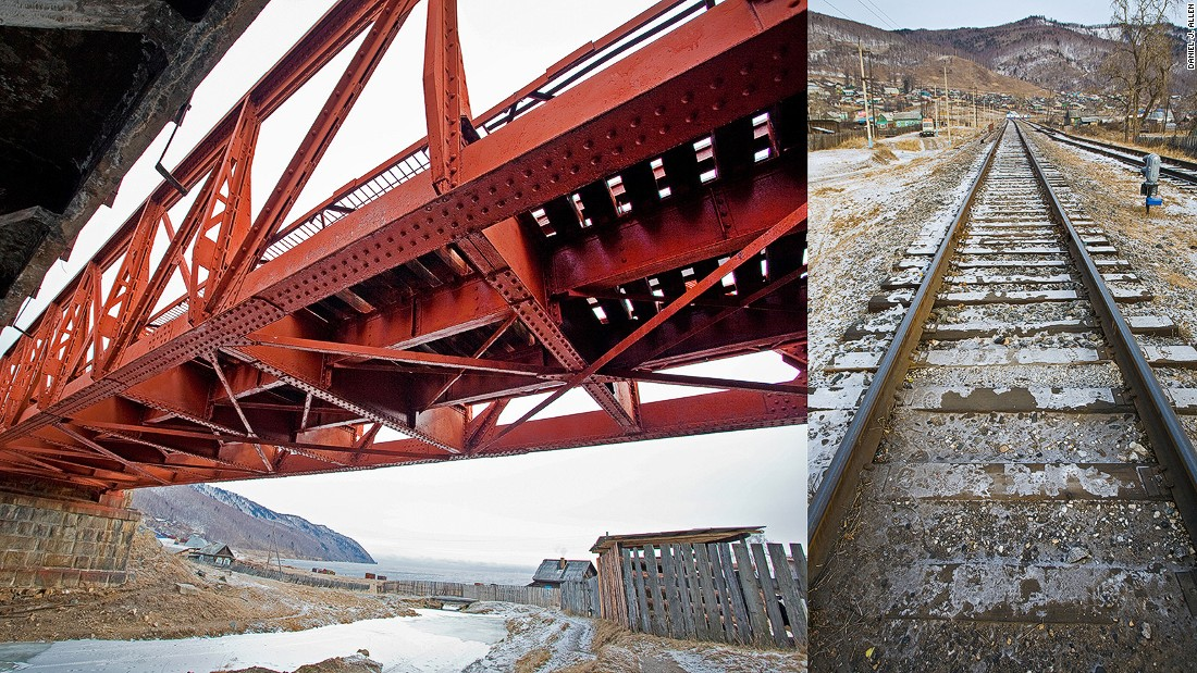 "A temporary railroad was laid over the lake's thick icy crust during the 1904-05 Russo-Japanese War. When the Circum-Baikal Railway, a masterpiece of engineering known as ""the golden buckle on Russia's steel belt,"" was completed soon after, it joined lines that ran from Moscow to the Pacific coast."
