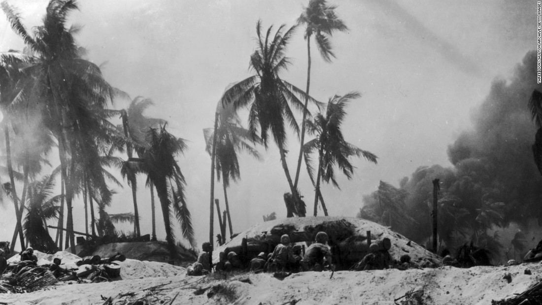 In November 1943, U.S. Marines attacked Japanese forces after landing on a beach at Tarawa, on the South Pacific Kiribati Islands, formerly the Gilbert Islands. Both U.S. and Japanese military members were plagued by malaria during World War II, but Japanese forces were not as well equipped to deal with the disease.