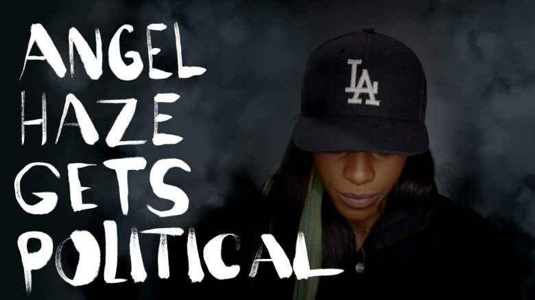angel haze gets political text