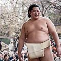 sumo wrestler smiling