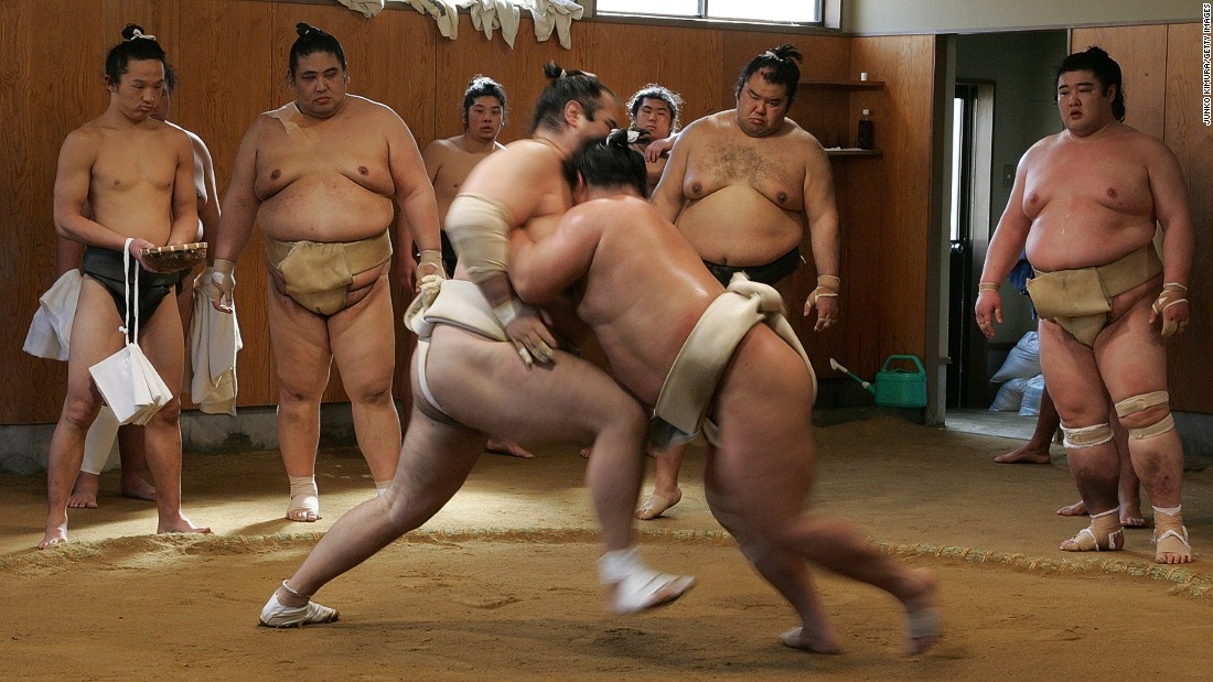 Catching a sumo tournament isn't always easy in Japan. But it is possible to sit in on the wrestlers' morning practice?
