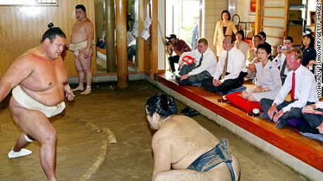 Visitors to the stables are expected to stay still for the duration of the practice.